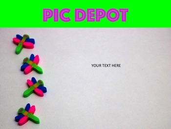 Stock Photo Dragonfly Erasers Text Box