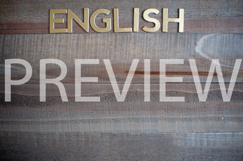 """Stock Photo: """"English"""" -Personal & Commercial Use"""