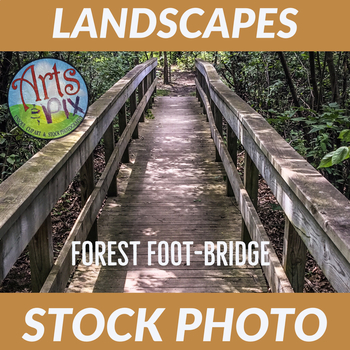 Stock Photo - Forest Foot Bridge - Photograph - Arts & Pix - Bridge