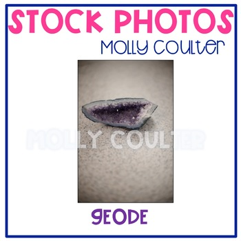 Stock Photo: Purple Geode -Personal & Commercial Use