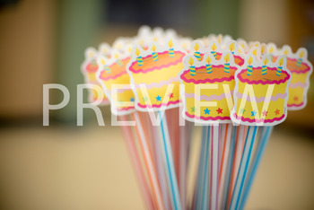 Stock Photo: Happy Birthday Pixie Sticks -Personal & Commercial Use