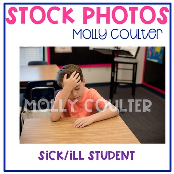Stock Photo: Ill/Sick Student -Personal & Commercial Use