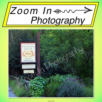 Stock Photo: Louisa May Alcott's House Museum Sign