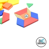 Stock Photo:  Math Pattern Blocks