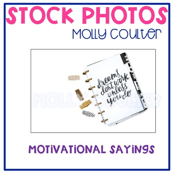 Stock Photo: Motivational Planner -Personal & Commercial Use