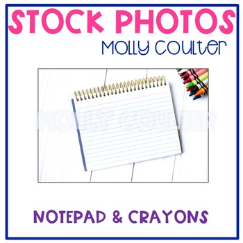 Stock Photo: Notepad & Crayons -Personal & Commercial Use