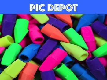 Stock Photo Pencil Cap Erasers