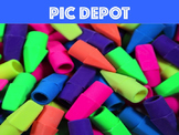 Stock Photo Pencil Cap Erasers