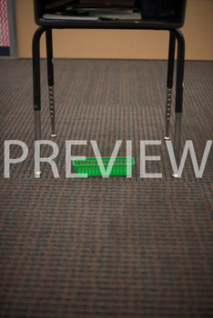 "Stock Photo: Preposition ""Below"" The Desk-Personal & Commercial Use"