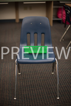 "Stock Photo: Preposition ""On"" The Chair-Personal & Commercial Use"