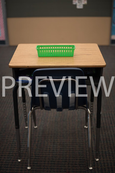"Stock Photo: Prepositions ""On"" The Desk-Personal & Commercial Use"
