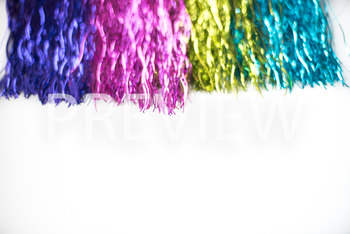 Stock Photo: Rainbow Party Banner(Tassles) -Personal & Com