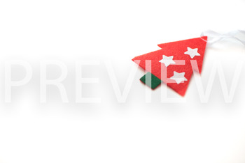 Stock Photo: Red Christmas Tree-Personal & Commercial Use