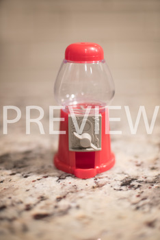 Stock Photo: Red Gumball Machine -Personal & Commercial Use