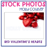 Stock Photo: Red Valentine's Hearts -Personal & Commercial Use