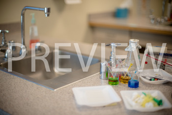 Stock Photo: Science Lab Experiment Set Up -Personal & Com