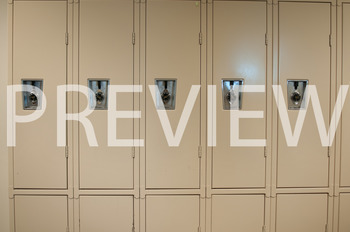 Stock Photo: Student Lockers at School -Personal & Commercial Use