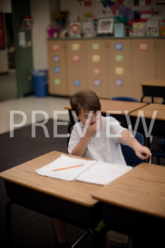Stock Photo: Student Making Fun (Joking) -Personal & Comme