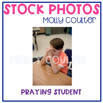 Stock Photo: Student Praying -Personal & Commercial Use