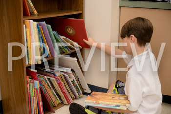 Stock Photo: Student Putting up Books (Helping) -Personal & Commercial Use