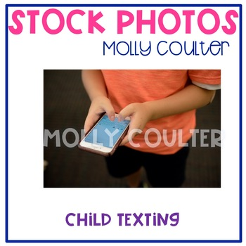 Stock Photo: Student Texting -Personal & Commercial Use
