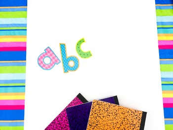 Stock Photo Styled Image: ABC Colorful -Personal & Commercial Use