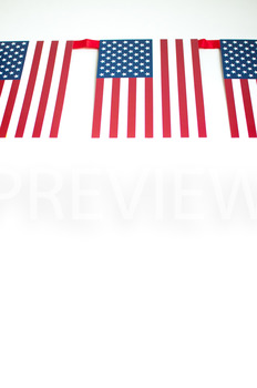 Stock Photo: American Flag Banner #2-Personal & Commercial Use