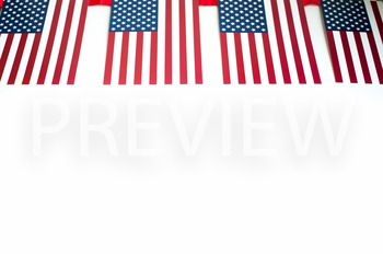 Stock Photo: American Flag Banner #1-Personal & Commercial Use