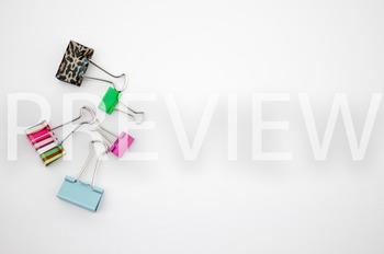 Stock Photo Styled Image: Binder Clips -Personal & Commercial Use