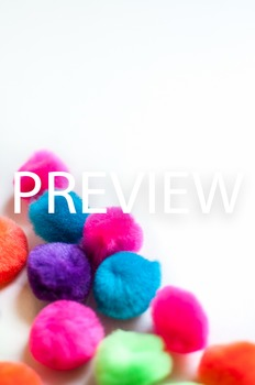 Stock Photo: Bright PomPoms #1 -Personal & Commercial Use