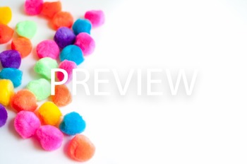 Stock Photo: Bright PomPoms -Personal & Commercial Use