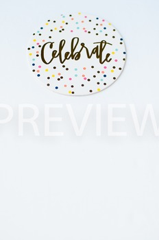 Stock Photo Styled Image: Celebrate Coaster #2 -Personal &