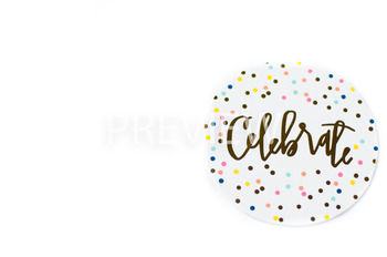 Stock Photo: Celebrate Coaster #2 -Personal & Commercial Use