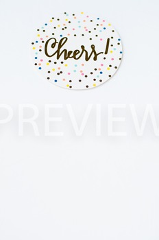 Stock Photo Styled Image: Cheers Coaster #1 -Personal & Co