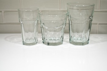 Stock Photo: Clear Drinking Glasses -Personal & Commercial Use
