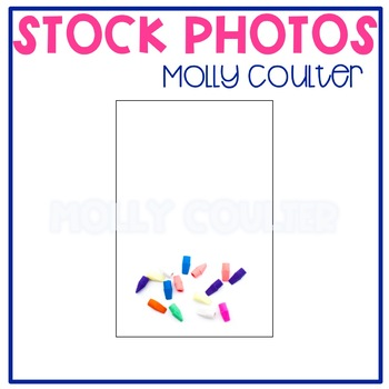 Stock Photo Styled Image: Colorful Erasers -Personal & Com
