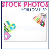 Stock Photo Styled Image: Colorful Letters & Pens -Personal & Commercial Use