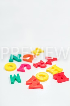 Stock Photo Styled Image: Colorful Letters -Personal & Com