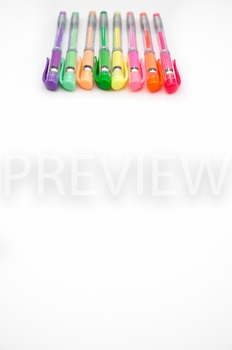 Stock Photo Styled Image: Colorful Pens #3 -Personal & Com