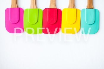 Stock Photo Styled Image: Colorful Spatulas Set -Personal
