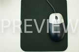 Stock Photo: Desktop Computer Mouse -Personal & Commercial Use