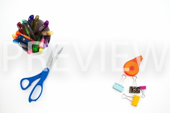 Stock Photo Styled Image: Desk Supplies #2 -Personal & Commercial Use