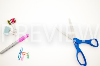 Stock Photo Styled Image: Desk Supplies #3 -Personal & Commercial Use