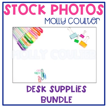 Stock Photo: Desk Supplies BUNDLE -Personal & Commercial Use