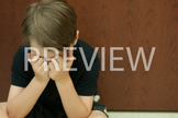 Stock Photo: Discouraged Student #4 Color-Personal & Commercial Use
