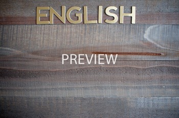 """Stock Photo: """"English""""-Personal & Commercial Use"""