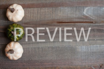 Stock Photo Styled Image: Colored Pumpkins on Wood #2 -Per