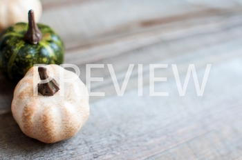 Stock Photo Styled Image: Colored Pumpkins on Wood #4 -Per
