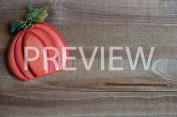 Stock Photo: Fall Orange Pumpkin on Wood #1 -Personal & Co