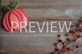 Stock Photo: Fall Orange Pumpkin on Wood #2 -Personal & Co